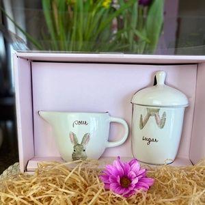 NEW Rae Dunn Easter Cream & Sugar SET in gift box